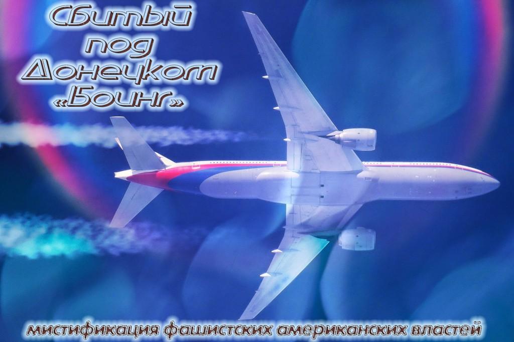 Сбитый под Донецком