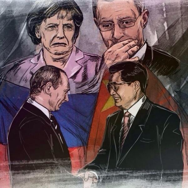 Putin-Merkel-YAjtsenyuk-Gaz-Kitaj-Dogovor