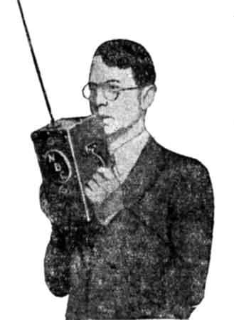 """Портативный УКВ передатчик. """"Радиофронт"""", 16, 1936"""