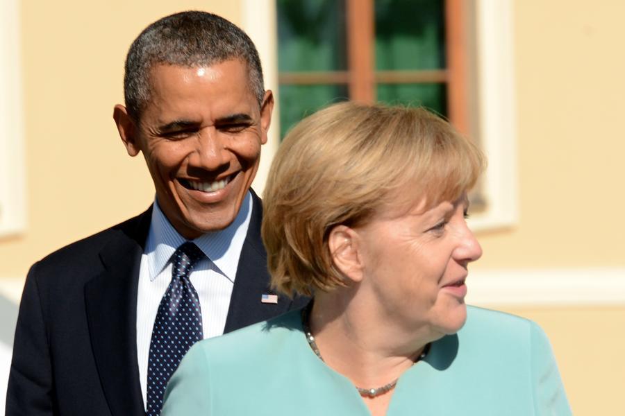 obama and merkrl