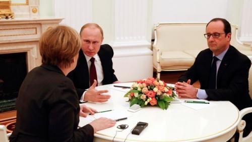 Путин меркель оланд