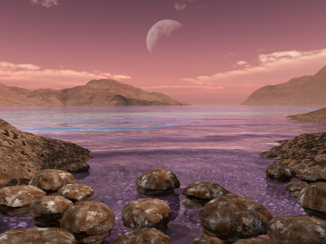 stocktrek-images-artist-s-concept-of-archean-stromatolites-on-the-shore-of-an-ancient-sea
