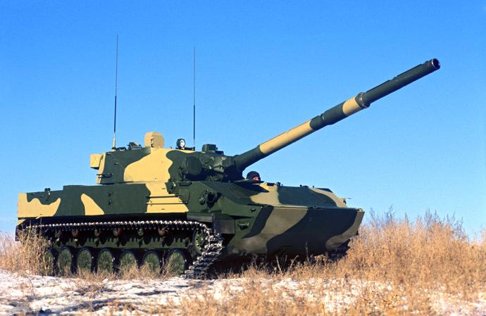 Спрут-СД воздушно-десантных самоходных противотанковых САУ. (РИА Новости / Вячеслав Афонин)