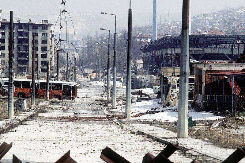 Разрушенный Сараево, 1995 год