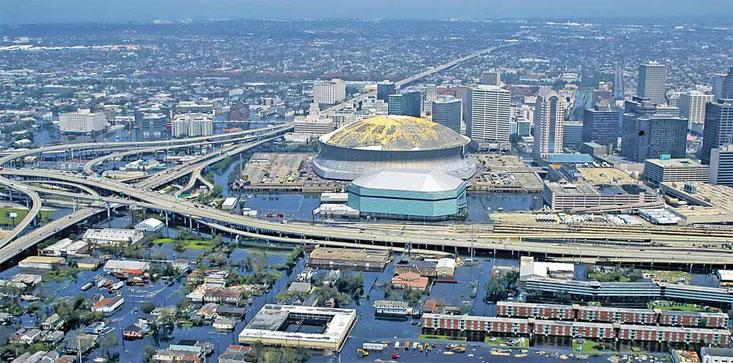 Новый Орлеан, затопленный в результате урагана Катрина, и сегодня, спустя 10 лет, ощущает последствия катаклизма.