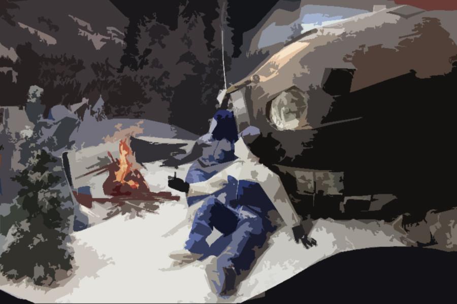 космонавты в лесу