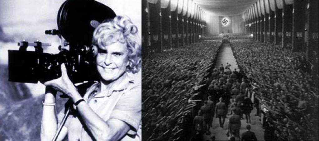 Лени Рифеншталь (1902–2003) – немецкий кинорежиссёр и фотограф, актриса. Документальные фильмы «Триумф воли» и «Олимпия» сделали её активным пропагандистом Третьего рейха. На фото: кадр из фильма «Триумф воли».