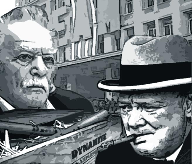 Манолис Глезос и Черчилль
