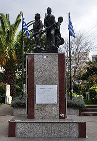 Парк и мемориал партизанам ЭЛАС в Галаци, Афины.