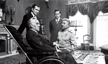 Рузвельт и Сталин, февраль 1945.
