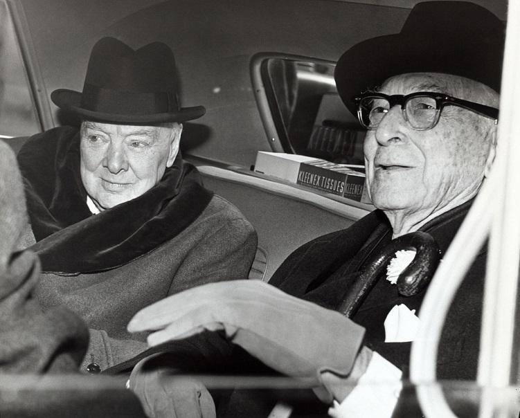Уинстон Черчилль и Бернард Барух.