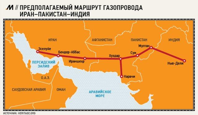 Газопровод из Ирана в Пакистан планируется открыть через два года