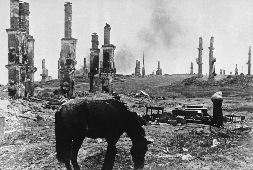 WWII Russia Destruction  Stalingrad  Bombing