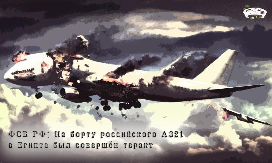На борту российского А321 в Египте был совершён теракт