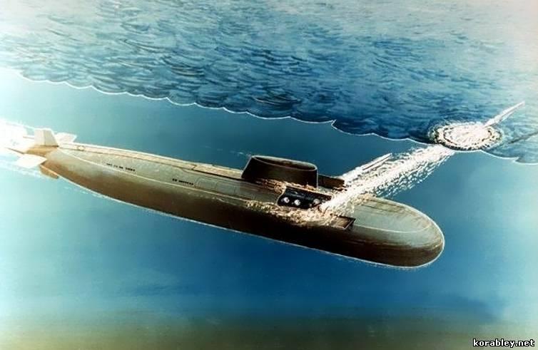 максимальная скорость подводной лодки под водой в километрах